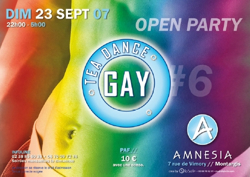 Amnesia Montargis Gay tea dance septembre 2007